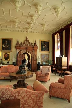 Felbrigg Hall, (NT) Norfolk, England - This decor is warmer and more inviting than the typical stately home. English Country Manor, English Manor Houses, English House, English Style, English Interior, English Decor, Classic Interior, Victorian Interiors, Victorian Homes