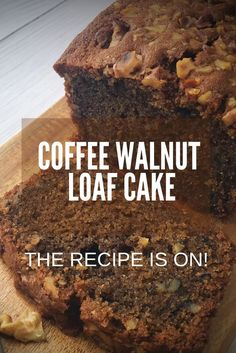Today Bakabee is sharing a homely coffee walnut loaf cake. The aromatic coffee and crunchy walnuts are a perfect combination. This coffee walnut loaf cake is. Easy Cake Recipes, Sweet Recipes, Baking Recipes, Dessert Recipes, Walnut Cake Recipe Easy, Loaf Recipes, Coffee And Walnut Cake, Coffee Cake, Coffee Coffee