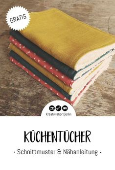 Sewing instructions: Sew sustainable kitchen towels yourself - Kreativlabor Berlin - Washable kitchen towels The Effective Pictures We Offer You About fabric crafts for beginners A qu - Diy Projects To Sell, Diy Crafts To Sell, Easy Crafts, Easy Diy, Fabric Crafts, Sewing Crafts, Sewing Projects, Paper Crafts, Diy Para A Casa
