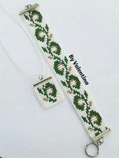 Loom Bracelet Patterns, Bead Loom Bracelets, Bead Loom Patterns, Beaded Jewelry Patterns, Friendship Bracelet Patterns, Seed Bead Necklace, Beaded Earrings, Pony Beads, Bead Crochet