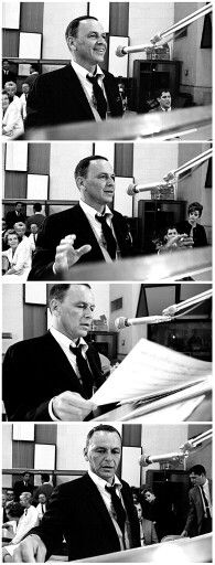 Frank Sinatra / AS1966... seeing him in-studio... makes me wish I could have been one of the women in the background!