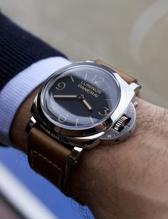 Panerai Men's PAM00320 Luminor 1950 3-Days Automatic GMT Black Dial Watch ZsaZsa Bellagio – Like No Other: In the Men's Room