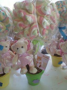Centro de Mesa de marshmallows | ... aos favoritos centro de mesa de marshmallows coloridos vaso tamanho