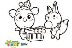 Pintas Kemy, descargar dibujos colorear dibujos animados -- Kemy coloring pages, cartoon downloadables
