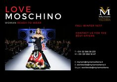 LOVE MOSCHINO WOMAN RTW FW 16/17 PRE- ORDER exclusively at Myriam Volterra - The Italian Buying Office for Fashion & Luxury Contact us to know our latest and best discounts according to your specific requirements and quantities!