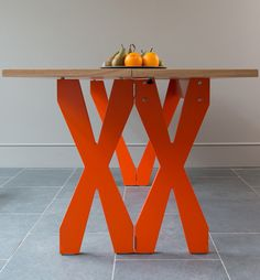 Steuart Padwick launching new designs at 100% Design 2013 #table #x #colour #orange
