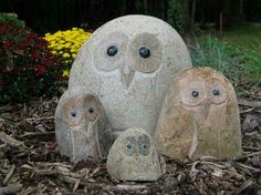 Stone Age Creations Boulder Owls. Each owl is found inside a natural boulder, which means no two owls are alike. Find yourself and each of your family members their own owl friend. #stoneagecreations #owls