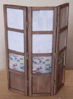 diy miniature dollhouse room divider - balsa wood - Fr. instructions with step-by-step illustrations