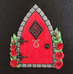 fairy doors using polymer clay -