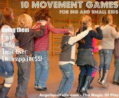 10 movement games for young children / 10 beweeg spelen voor jonge kinderen | AngeliqueFelix.com