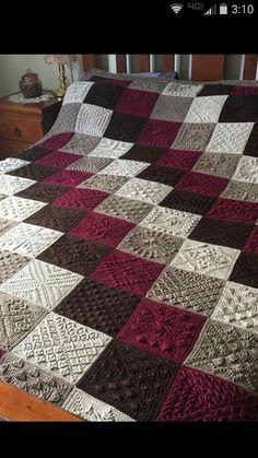 Crochet grannies with gray background - Salvabrani Crochet Flower Patterns, Afghan Crochet Patterns, Crochet Stitches, Knitting Patterns, Crochet Ripple, Crochet Quilt, Baby Blanket Crochet, Crochet Coat, Ideias Diy