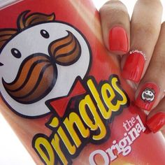 Loving these Pringles nails done by @gabbysnailart using Tammy Taylor Mango Tango Nail Lacquer!   tammytaylornails.com