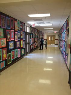 Great ideas for afternoon art classes after school. And then displaying in the halls