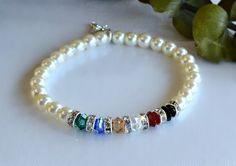 Cristal de Swarovski y pulsera de perla de la por HeartofGems