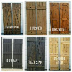 Wood Shutters Board and Batten exterior Cedar by ALittleCurbAppeal