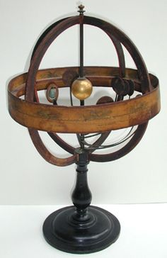 Copernican amillary sphere with orrey, early 19thc