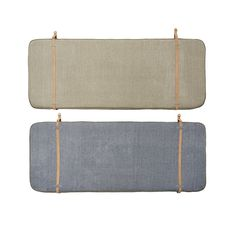 The OYOY Headboard - OYOY Headboard - Beige/Navy Blue by OYOy Living Design features Piping at edges and natural leather straps w. brass buckle for hanging purpose. It can also reversible so you can change the look of your bedroom. Cushion Headboard, Bed Back, Brass Buckle, Leather Furniture, Natural Leather, Navy Blue, Cushions, Beige, Bedroom Inspiration