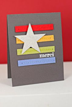 Merci Card by Erin Lincoln for Papertrey Ink (October 2013)