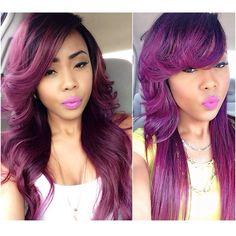 purple hair color