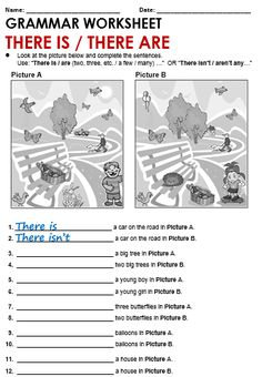 Quality ESL grammar worksheets, quizzes and games - from A to Z - for teachers & learners THERE IS and THERE ARE