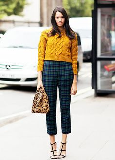 Mix up solids and patterns this winter.