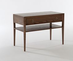Sooma Table With Drawer & Lower Shelf | Bedroom | Furniture | William Yeoward