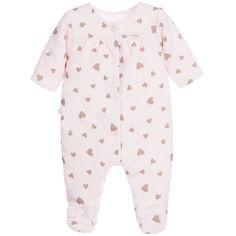 ABSORBA Baby Girls Lightly Padded Pink Cotton Babygrow
