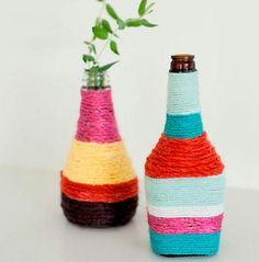 Botellas-decoradas-con-lana-DIY-wool-bottle