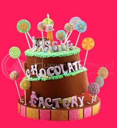 Chocolate & Candy Factory Cake