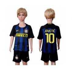 Inter Milan Trøje Børn 16-17 #Jovetic 10 Hjemmebanetrøje Kort ærmer,199,62KR,shirtshopservice@gmail.com
