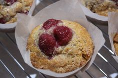 Wholemeal Raspberry and Oat Breakfast Muffins