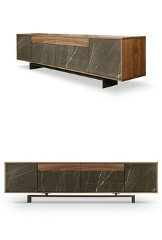 Sideboard with doors with drawers GRAMMI by TCC Whitestone | #design Fabio Teixeira, Sérgio Costa #marble: