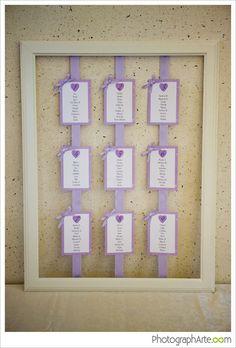 Matrimonio.it | idea per un #tableau lilla #matrimonio
