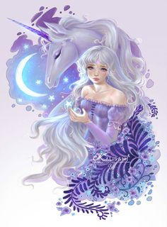 The last unicorn by kalisami on DeviantArt The last unicorn by kalisami<br> Unicorn Fantasy, Unicorn Art, Magical Unicorn, Fantasy Art, Sailor Moon Background, Non Disney Princesses, Disney Princess Fashion, Unicorn Pictures, The Last Unicorn