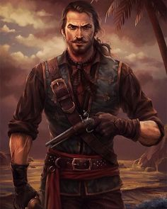 Character Portraits : Photo Pirate Life, Pirate Art, Anime Pirate, Fantasy Male, Fantasy Rpg, Fantasy Warrior, Medieval Fantasy, Medieval Series, Story Inspiration