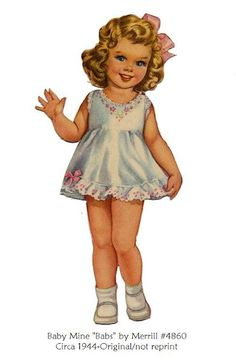 """Baby Mine Paper Doll  """"Babs"""""""