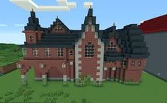 The house made of brick! Whoever made this good job! :)