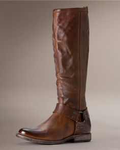 Frye Womens Vintage Phillip Harness Tall Boot