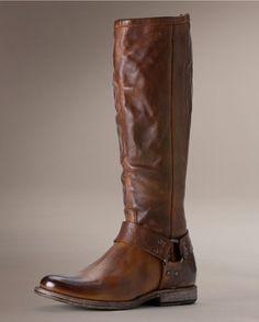 Frye Women's Vintage Phillip Harness Tall Boot - Cognac