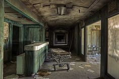 Gurney - 3rd floor at the abandoned Linda Vista Hospital. This floor was extremely creepy.