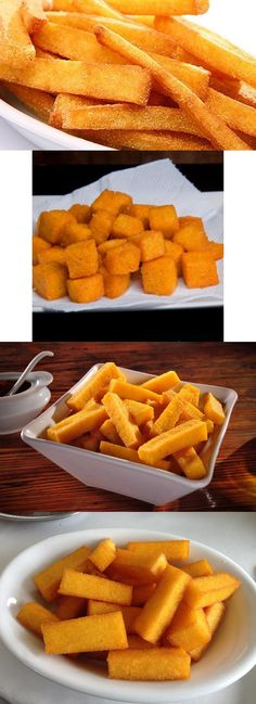 Polenta Frita Crocante #polenta #frita #delicia #pilotandofogão
