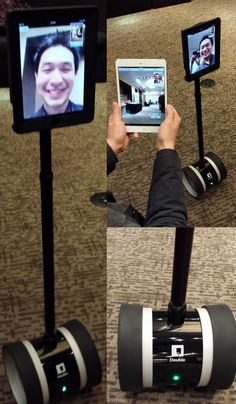No, that's not Sheldon from TV's Big Bang Theory, but that was a real telepresence robot rolling around the W New York hotel June 13. Silicon Valley startup Double Robotics showed off the iPad-equipped Double (pre-order for $1,999) at the annual Edelman Public Relations Holiday Gift Parade for the media. Once connected via video call you can control the Segway-like robot, which can look down to make sure it doesn't bump into anything, from anywhere with a data connection.