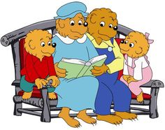 Mama Bear, Papa Bear, Brother Bear, Sister Bear - from the Berenstain Bear books by Stan and Jan Berenstain