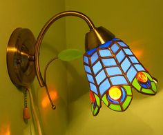 Peacock feathers stained glass stained glass lamp tiffany sconce tiffany lamp wall lamp lampshade tiffany lampshade peacock feathers peacock stained glass sconce blue lamp blue my vitraz USD