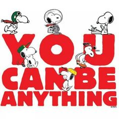 Inspiration from Snoopy. | In