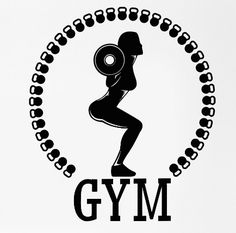 Fitness Wall Sticker Sport Squat Woman Girl Gym Bodybuilding Pvc Wall Sticker Fitness Centre Gym Wall Decal Bedroom Decoration