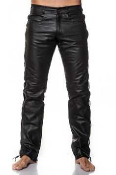 Pulls, Leather Pants, T Shirt, Images, Fashion, Pants, Men Wear, Search, Leather Jogger Pants