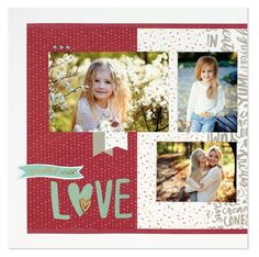Sprinkled with Love layout WYW from the Seasonal Expressions 1, 2017. CTMH Sugar Rush