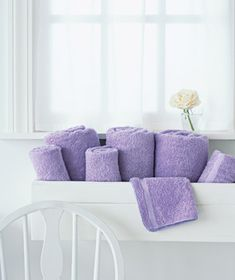 Wall storage ideas- windowbox for towels in the bath, more ideas here!