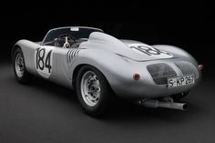 The 1960 Porsche Spyder is powered by a flat-four air-cooled engine with an 86 inch wheelbase and weight of pounds. Porsche 550, Porsche Cars, My Dream Car, Dream Cars, Steve Mcqueen Le Mans, Kit Cars, Vintage Racing, Custom Cars, Concept Cars